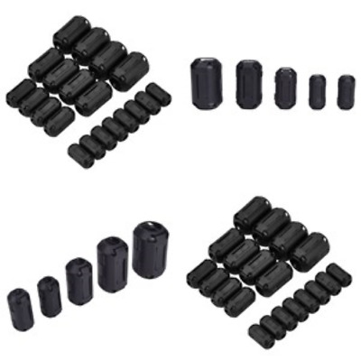 Ferrite Bead Choke Coil Clamp RFI Cable Clip 20-Pack Snap On 3-13 mm Ring Core