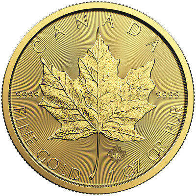 1 oz Gold Maple Leaf Coin RCM - Random Year - Royal Canadian Mint