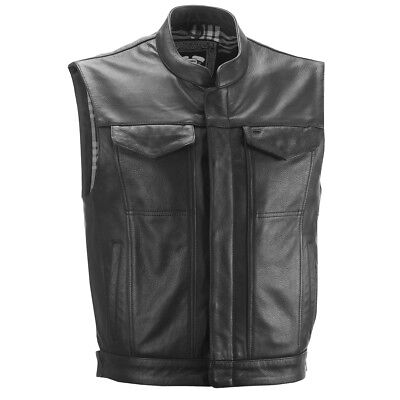 Highway 21 Magnum Mens Leather Vest Black