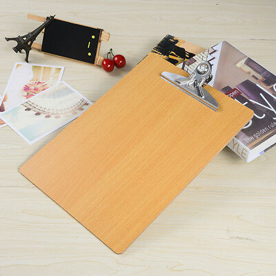 Wooden A5 Clipboard Hardboard Menu Board With Clip For Office Coffee Shop Tools
