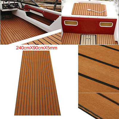 94'' Self-Adhesive Brown Marine Flooring Teak EVA Foam Boat Decking Sheet 5mm