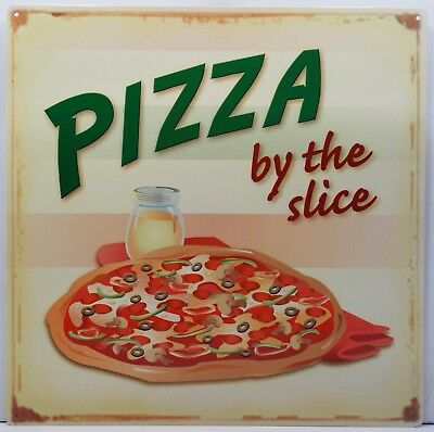 Pizza by the Slice Food  Metal Sign