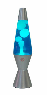 NEW Motion Lava Lamp 37cm Silver Base Blue/White [RM-KM802H] Party Night Light