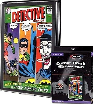 6 Silver Comic Showcase Display Case UV Protection Wall Mount Frame New
