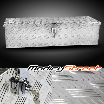 "39"" Silver Aluminum Pickup Truck Bed Underbody Tool Box Trailer RV Tote Storage"