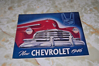 1946 Chevrolet Sales Folder, Size Is 12 By 9 With 8 Pages.