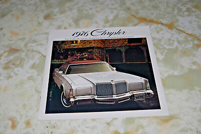 Sales Brochures For An 1976 Chrysler , Printed In United States.