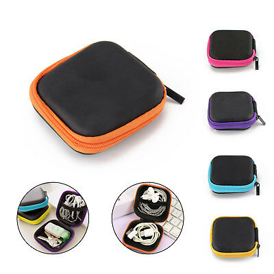 For Earphone SD Card Earbud Mini Carrying Headphone Bag Pouch Hard Case Portable