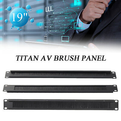 19'' Titan AV Brush Panel 1U Server Cabinet Cable Management Tidy Bar Slot Rack