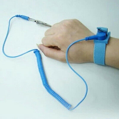 Anti-Static Grounding Strap Wrist Band w// 6ft Coil Cord TL-AS1B Blue