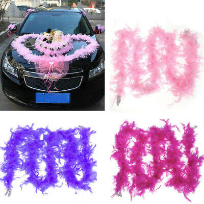 2M Fluffy Feather Boa Strip Party Decoration Pink Hot Sale Durable