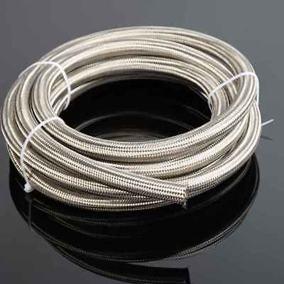 For AN10 Stainless Steel Braided Racing Hose Fuel Oil Line One Meter Universal