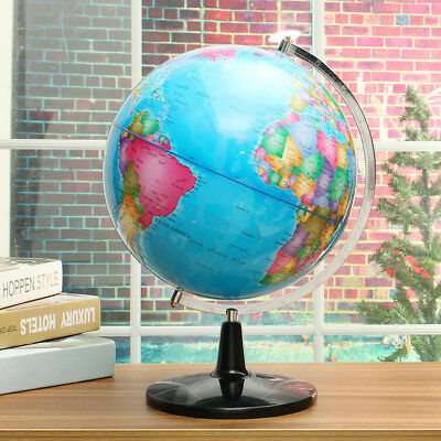 Rotating World Globe Map With Stand Gift Large Ocean Geography Education Toy AU