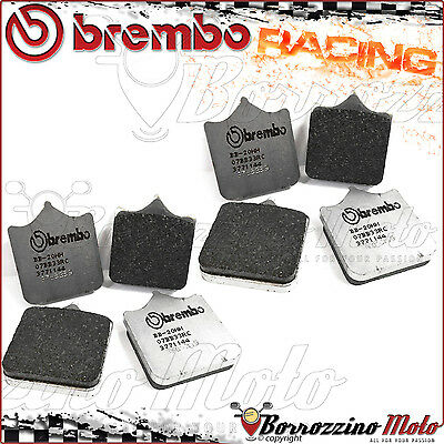 8 Plaquettes Frein Avant Brembo Racing Carbon Rc Cagiva X-Raptor 1000 2003 >