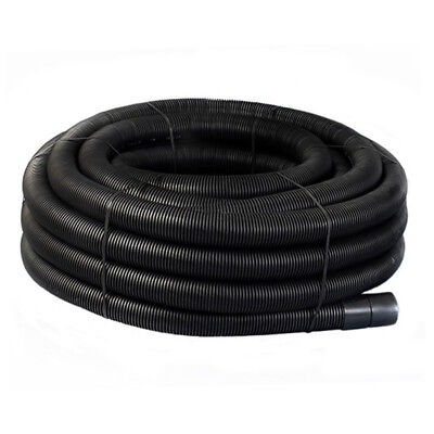 Black Flexible Twinwall Cable Duct 25m Coils W/ Drawstring 40,50,63,75,90,110mm