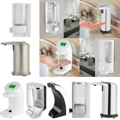 Wall Mount Manual/Auto Sensor Soap Dispenser Bathroom Shower Shampoo Lotion Box