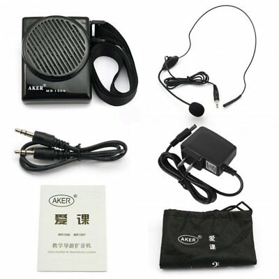 Aker MR1506 Portable 10W Loud Voice Booster AMP Speaker Amplifier with Headset