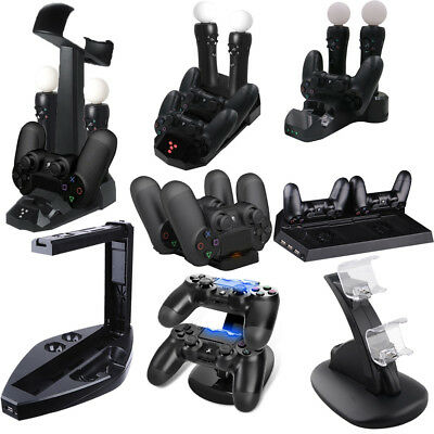 Dual Charger Dock USB Charging Station Stand For Playstation 4 PSVR Controller