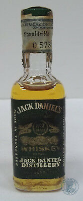 Miniature / Mignon Tennessee Whiskey JACK DANIEL'S Green Label (1972)