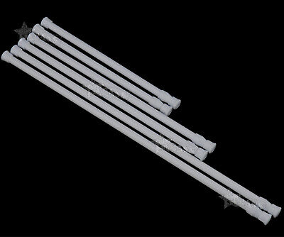 2Pcs Spring Loaded Extendable Telescopic Voile Tension Curtain Rail Pole Rod GH