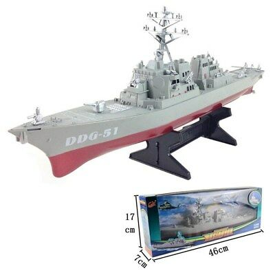 Aircraft Carrier Navy Guided Missile Destroyer Ship Model Kid Toys Display Stand
