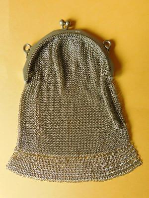 Sterling Silver Edwardian Art Deco Ladies Purse Edwardian LondonImport mark 1912
