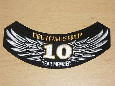 Harley Davidson Harley Owners Group HOG 10 Year Member Patch New