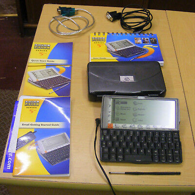 Psion Series 5mx  PDA with Case, power lead, cables,Stylus and instruction books