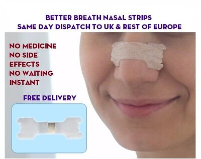 Nasal / Nose Strip - Better Breath - Snoring & Athlete Aid - Europe & UK Post