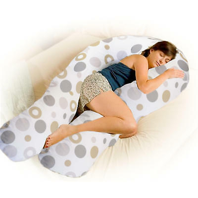 4Baby Grey Bubbles 12Ft Body & Baby Pregnancy / Feeding Pillow Support Cushion