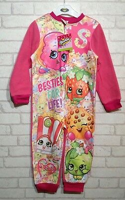 Shopkins Fleece All In One Sleepsuit Pyjamas Loungewear Girls Age 3-4 Yrs