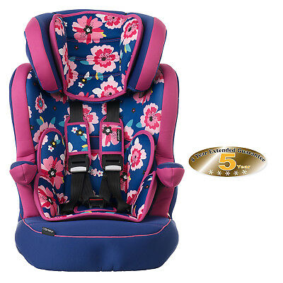 New Obaby Summer Burst Group 1 2 3 Car Seat Adjustable Car Seat 9 - 36Kgs
