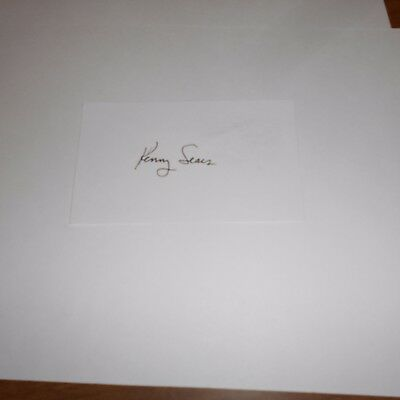Ken Sears was an American professional basketball player Hand Signed Index Card