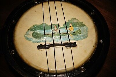 Vintage Banjolele With Case And A Beginners Manual