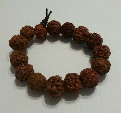 carved nut bracelet Xmas Christmas present