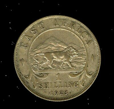 East Africa 1923 Silver Shilling  About Uncirculated