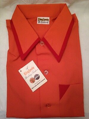 VTG Atomic King Louie Polyester Bowling Shirt NOS Men's Med