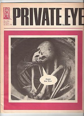 Private Eye Mag # 314 28 December 1973  New Year Cover  3-day Week Miners Strike