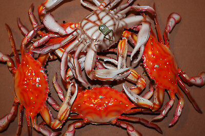 Crab Shack Steamed Crab Decor, Steamed Crab Display, Red Steamed Crab, 6 inch