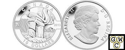 2013 'Inukshuk - O Canada' Proof $10 Silver Coin .9999 Fine (NT) (13118)