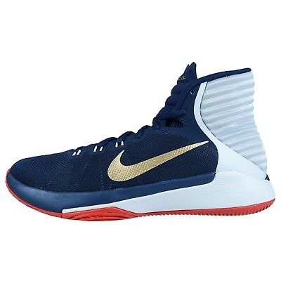 Nike Prime Hype Df 2016 Navy Gold White Usa Mens Basketball 844787 400