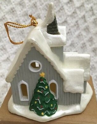 Vintage Avon Gift Collection SNOW FROST FALLS VICTORIAN VILLAGE Church Ornament