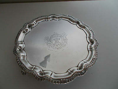 Solid Silver George II Salver. Peter Archambo. London 1748. Very Rare