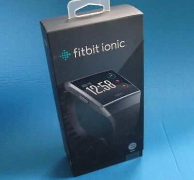 Fitbit Ionic Smartwatch Charcoal/Smoke Gray One S L Bands Included FB503GYBK