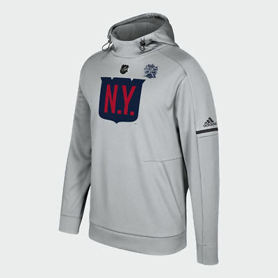 New York Rangers Authentic Pro Player Adidas 2018 Winter Classic Hoodie A12Bx
