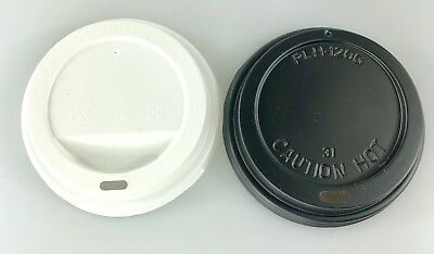 12oz /16oz (90mm) SIP THROUGH Plastic Coffee Cup Lids for Paper Cups