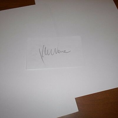 Kenny Vance is an American singer/songwriter Hand Signed Index Card