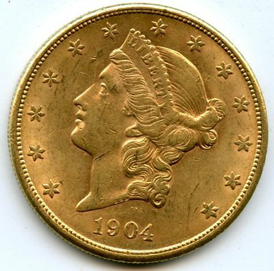 1904-S United States Gold Liberty Head Double Eagle $20 Coin RN256