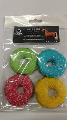 Gourmet Horse Treats - Fruity Rings - 4 Pce - Molasses Oat - Flavoured - Coconut