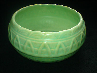 Shorter & Son Basket Weave Effect Green 6 1/2 inch Bowl